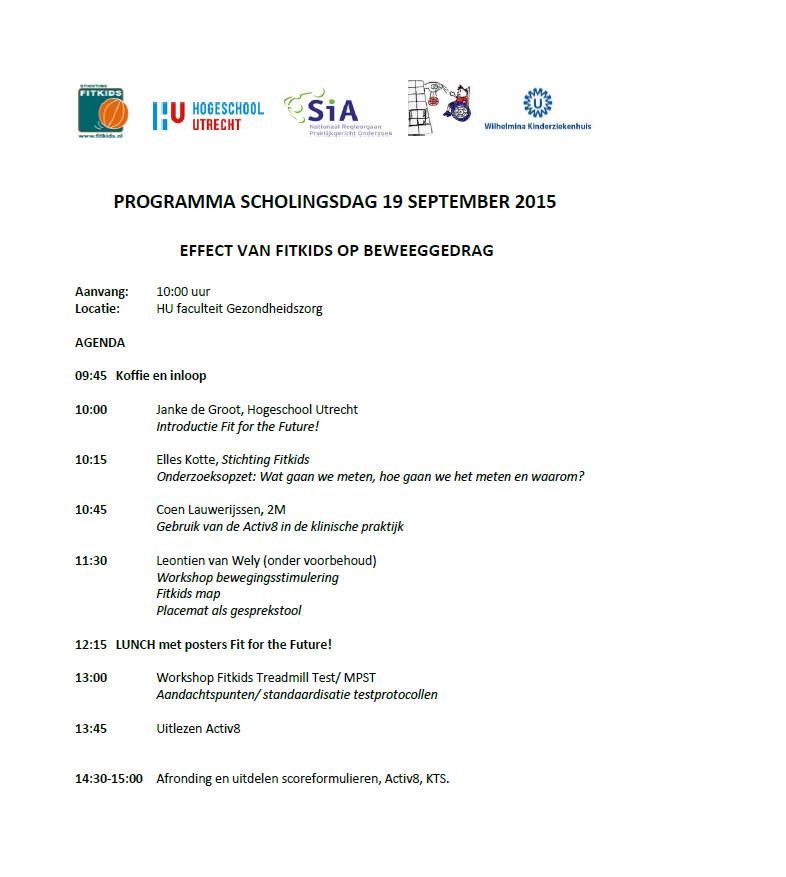 Programma scholingsdag 19 september