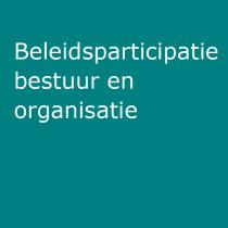 Beleidsparticipatie, bestuur en organisatie